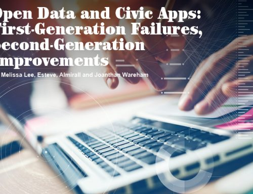 Open Data and Civic Apps: First-Generation Failures, Second-Generation Improvements